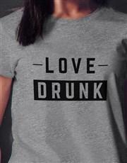 Love Drunk Ladies Grey Tshirt