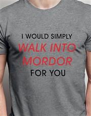 Walk Into Mordor Grey Tshirt