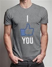 I Like You Grey Tshirt