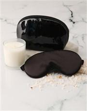 Black Cosmetic Bag and Eye Mask Hamper