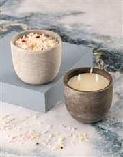 Rustic Vanilla Scented Candle Set