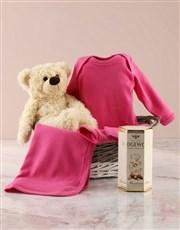 Pink Clothing Gift Basket