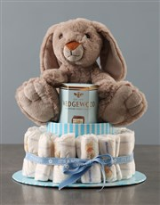Yummy Bunny Blue Nappy Cake