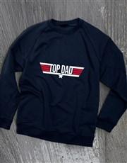 Top Dad Navy Sweatshirt