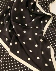 Black And White Polka Dot Silk Scarf Combo