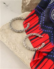 Navy And Red Polka Dot Silk Scarf Combo