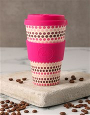 Pink Geometric Travel Eco Cup