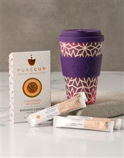 Purple Ornate Travel Eco Cup