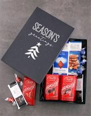 Seasons Greetings Lindt Chocolate Box
