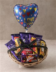 Cadbury Choc Love Basket Hamper