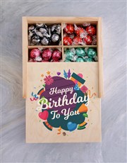 Lindt Chocolate Birthday Crate