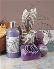 Beautiful Day Purple Bath Hamper