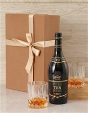 KWV Ten Year Whisky Set