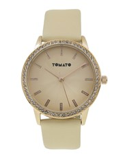 Tomato Ladies Watch with rose gold with stone on 3