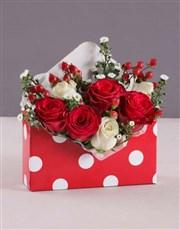 Valentines Polka Dot Rose Box