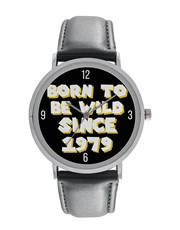 Digitime 40mm Born to be wild Stainless Steel Watc