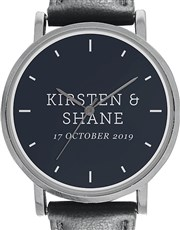 Digitime 40mm Round Personalised Names and Date ,