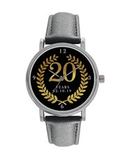 Digitime 40mm Round Personalised 20 Years, Stainle
