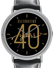 Digitime 40mm Round Personalised Celebrating 40 Ye