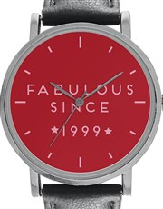 Digitime Ladies 36mm Red Dial Fabulous since, Stai