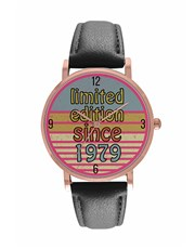 Digitime Ladies Round 36mm Round Rose Gold Plated