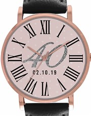 Digitime 36mm Ladies 40 Rose Gold Plated Stainless