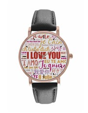 Personalised I Love You Digitime Watch