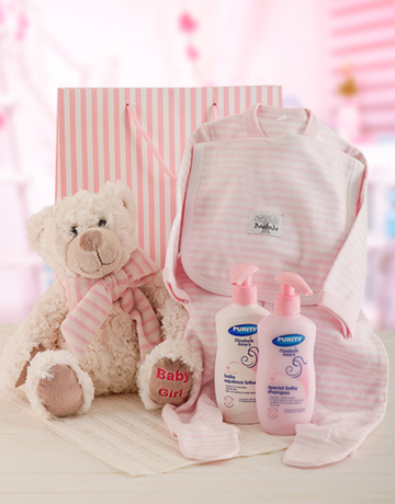baby: Baby Girl and Bear Gift Set!