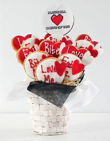 cookies-and-biscuits: Personalised Love Cookie Bouquet!