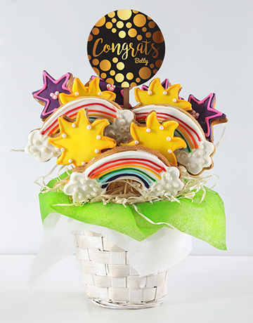 cookies-and-biscuits: Personalised Congrats Cookie Bouquet!