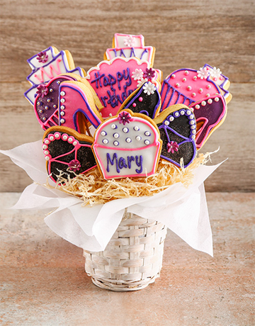 cookies-and-biscuits: Hoity Toity Birthday Cookie Bouquet!