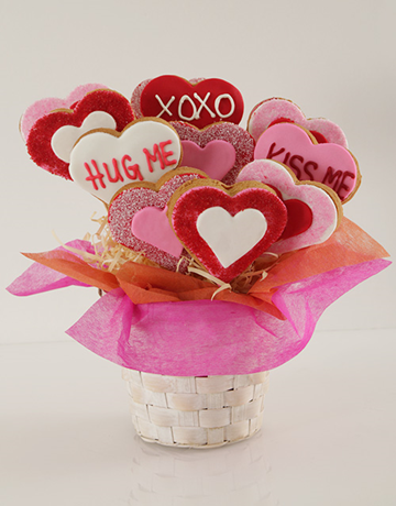 cookies-and-biscuits: Hugs and Kisses Cookie Bouquet!