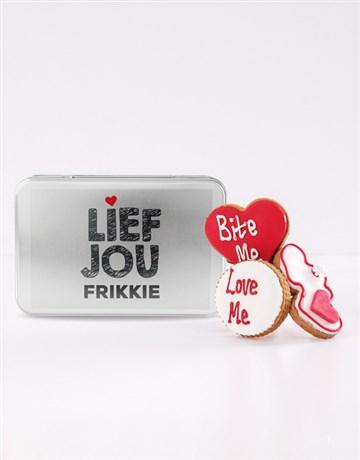 cookies-and-biscuits: Personalised Lief Jou Cookie Tin!