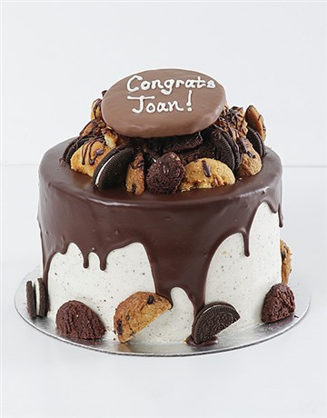 bakery: Personalised Cookie and Brownie Drip Cake!