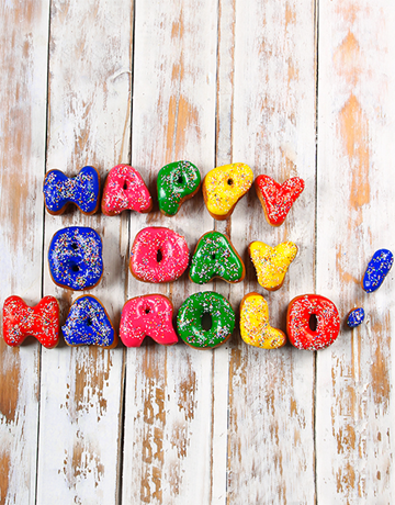 bakery: Personalised Doughnuts 10 to 16 Letters!