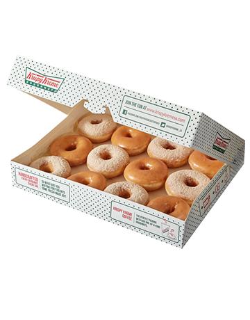 doughnuts: Krispy Kreme Original Glazed and Cinnamon Combo!