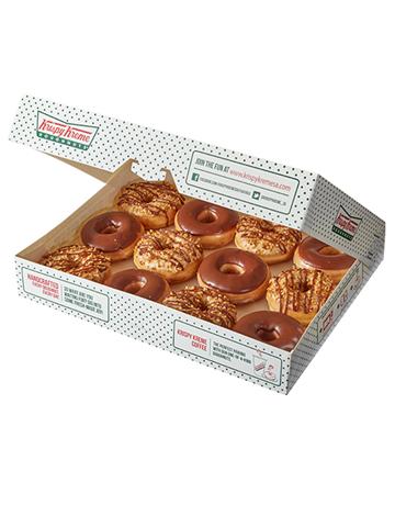 doughnuts: Krispy Kreme Chocolate and Peanut Butter Combo!