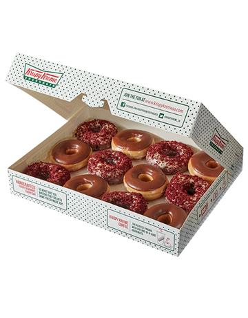doughnuts: Krispy Kreme Chocolate Iced and Red Velvet Combo!