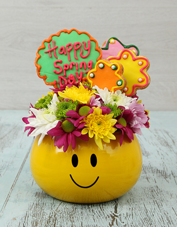 spring-day: Spring Cookies and Flower Arrangement!