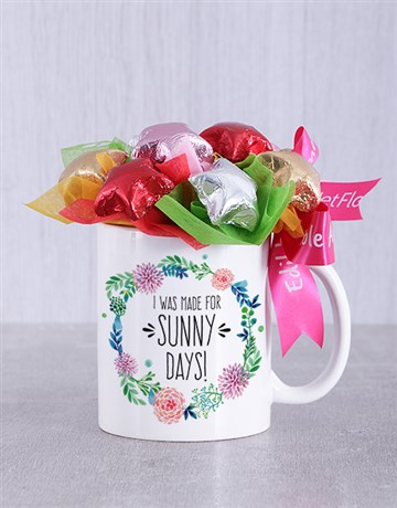 spring-day: Sunny Days Choc Star Mug Arrangement!