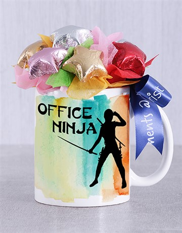 secretarys-day: Office Ninja Choc Star Mug Arrangement!
