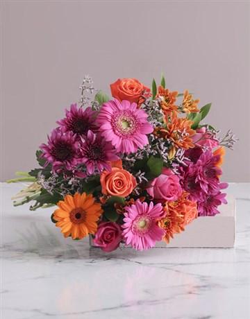 flowers: Colour Burst Bouquet!