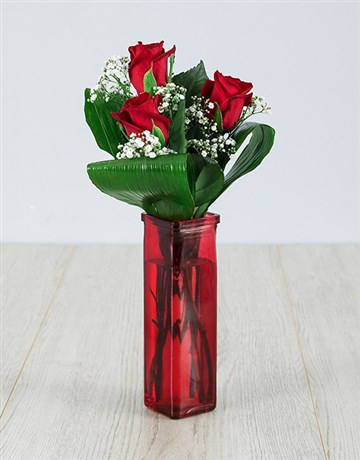 colour: You are One in a Million Red Rose Vase!