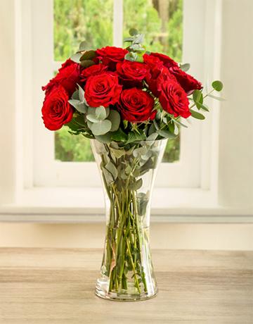 celebrity-range: She Said Ruby Red Rose Arrangement!
