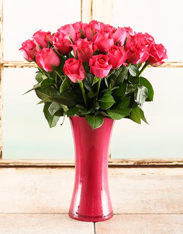 coloured-vases: Pink Inspiration Rose Vase!