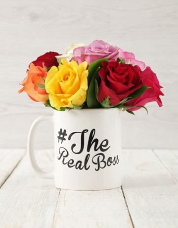 secretarys-day: The Real Boss Mixed Rose Arrangement!