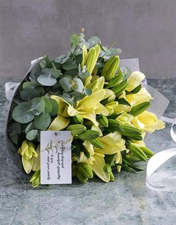 rosh-hashanah: White Asiflorum Lily Sympathy Bouquet!