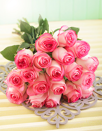 roses: Pink Giant Ethiopian Rose Bouquet!