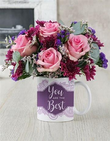 secretarys-day: You Are The Best Rose Mug Arrangement!
