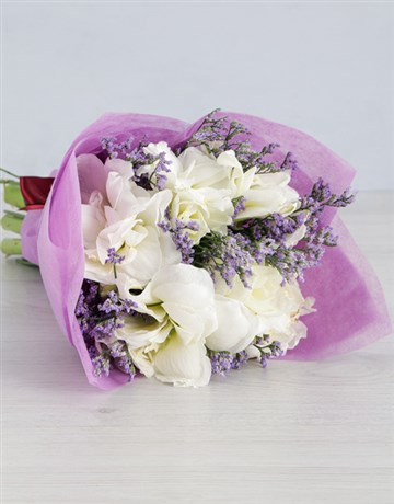 Cut Amaryllis in Lilac Wrapping!